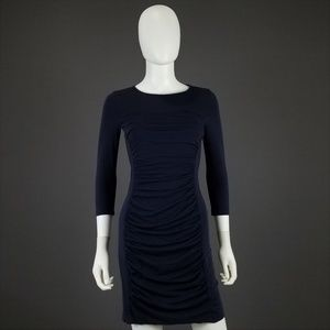 Theory Anora Encase Cotton Stretch Pullover Dress